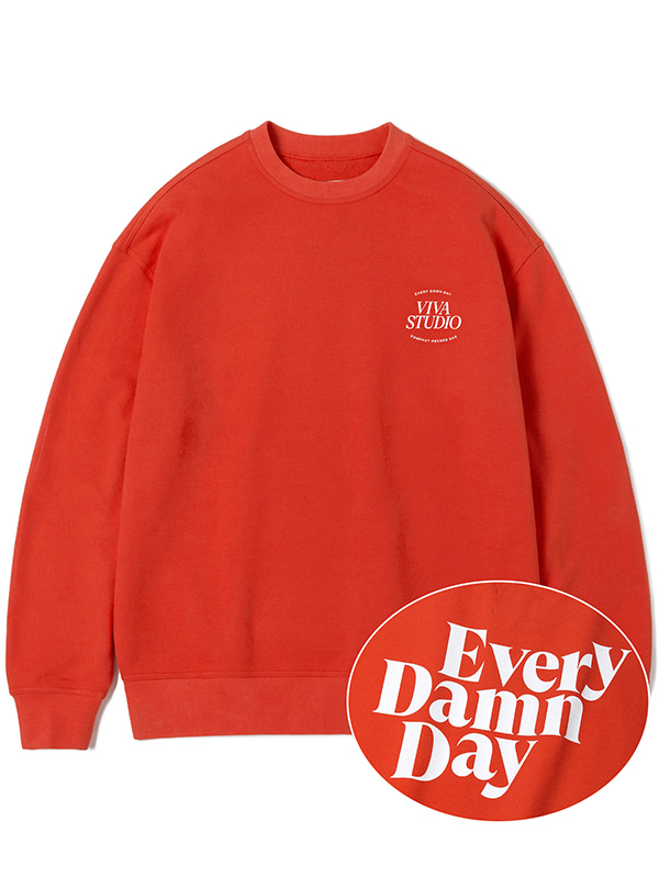 KOMPAKT EVERY DAMN DAY CREWNECK JA [RED]