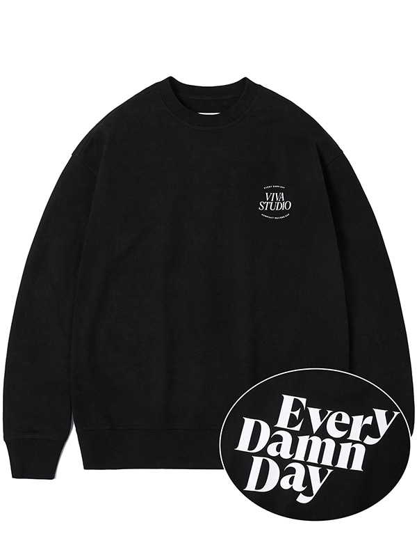 KOMPAKT EVERY DAMN DAY CREWNECK JA [BLACK]