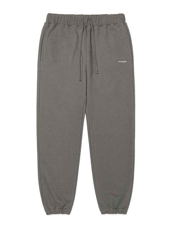 BASIC LOGO SWEATPANTS JA [BROWN]