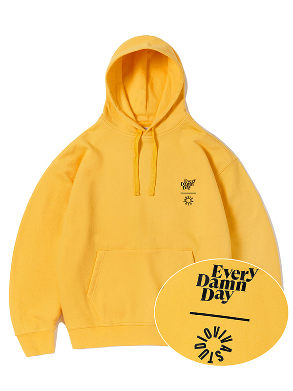KOMPAKT EVERY DAMN DAY HOODIE JA [YELLOW]