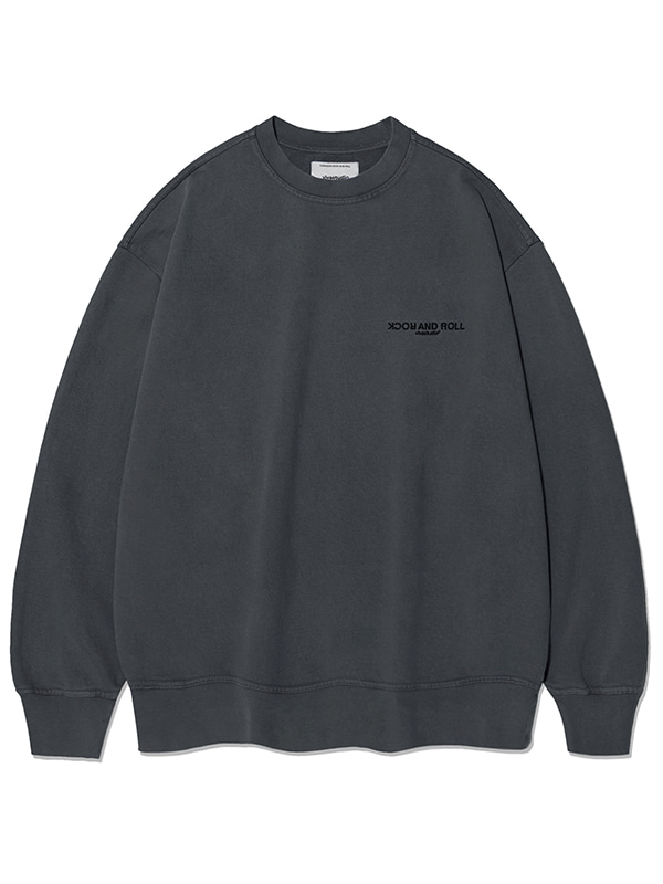 GARMENT DYED CREWNECK KS [CHARCOAL]