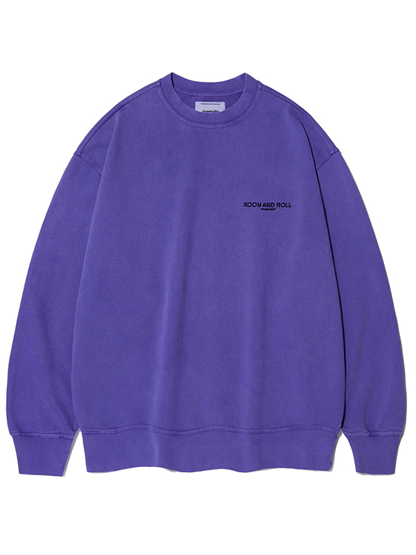 GARMENT DYED CREWNECK KS [PURPLE]