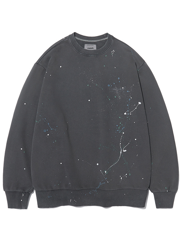 PAINTED CREWNECK KS [CHARCOAL]