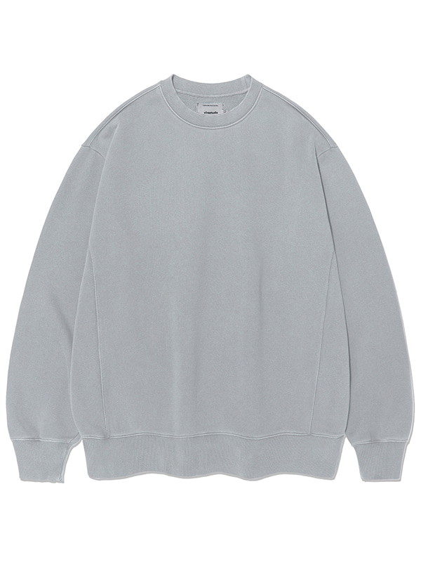 MINIMAL PIGMENT DYED CREWNECK KS [DUST GREEN]