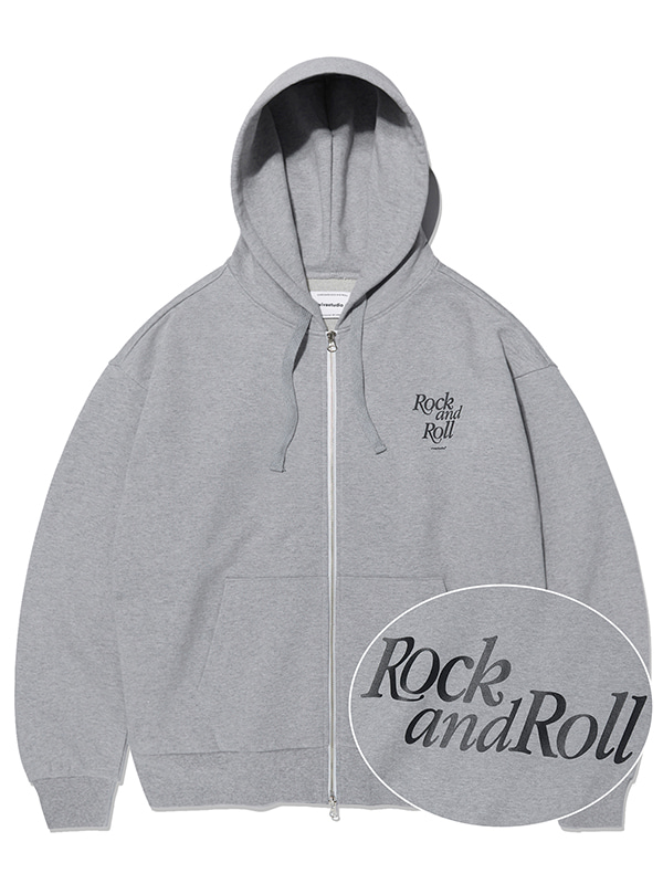ROCK AND ROLL ZIP-UP HOODIE KS [MELANGE GREY]