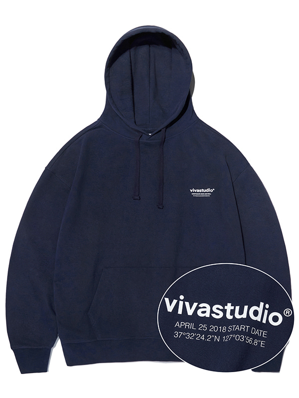 LOCATION HOODIE KS [NAVY]