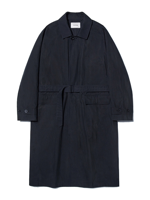 OVER FIT BELTED COAT KS [BLACK]