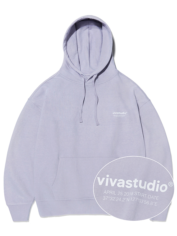 LOCATION HOODIE KS [LIGHT PURPLE]
