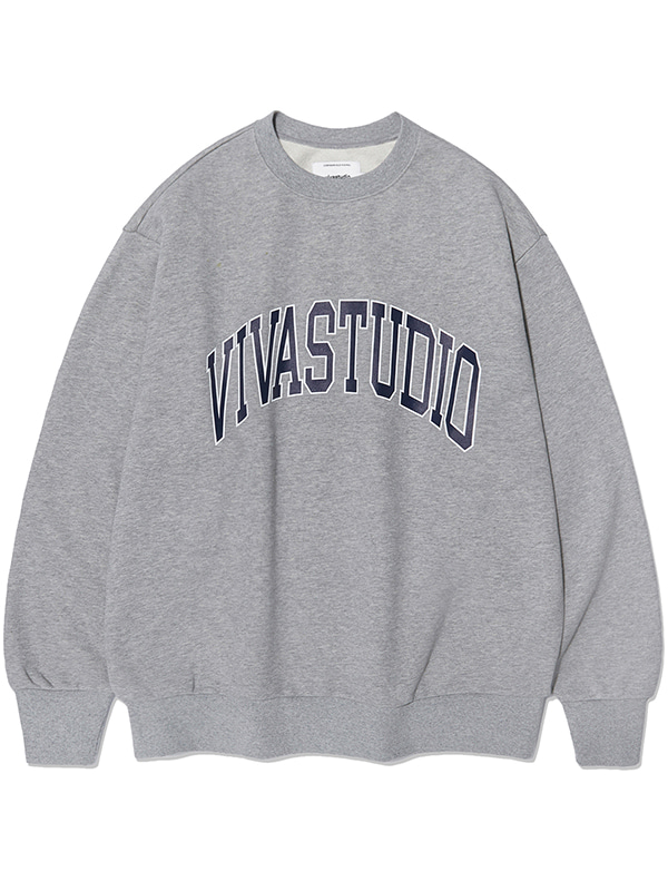 COLLEGE LOGO CREWNECK KS [MELANGE GREY]