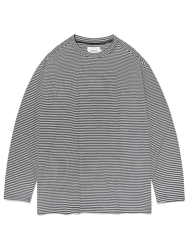 STRIPE L/S TEE KS [BLACK]