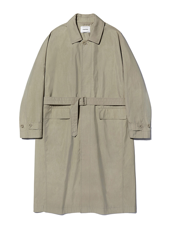 OVER FIT BELTED COAT KS [BEIGE]