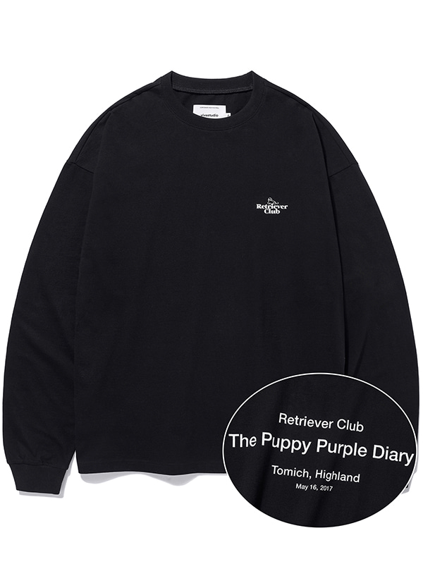 RETRIEVER CLUB L/S TEE KS [BLACK]