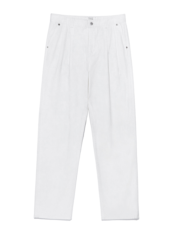 TWO TUCK JEANS KS [IVORY]