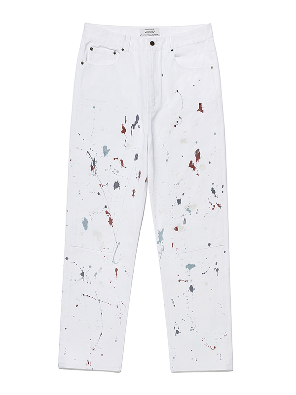 PAINTED JEANS KS [WHITE]