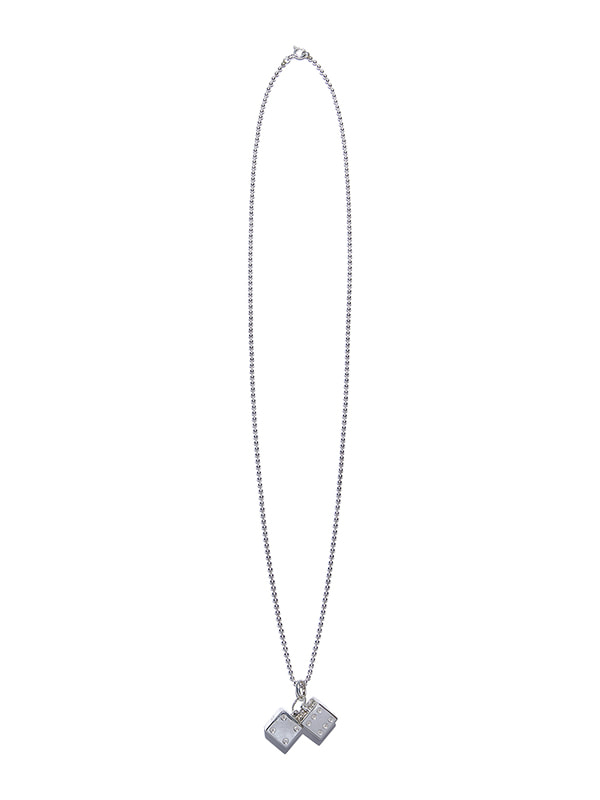 DICE NECKLACE KS [SILVER]