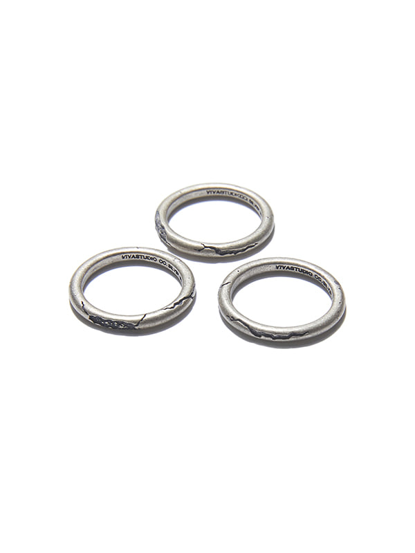 CRACK LAYERED RING KS [SILVER]