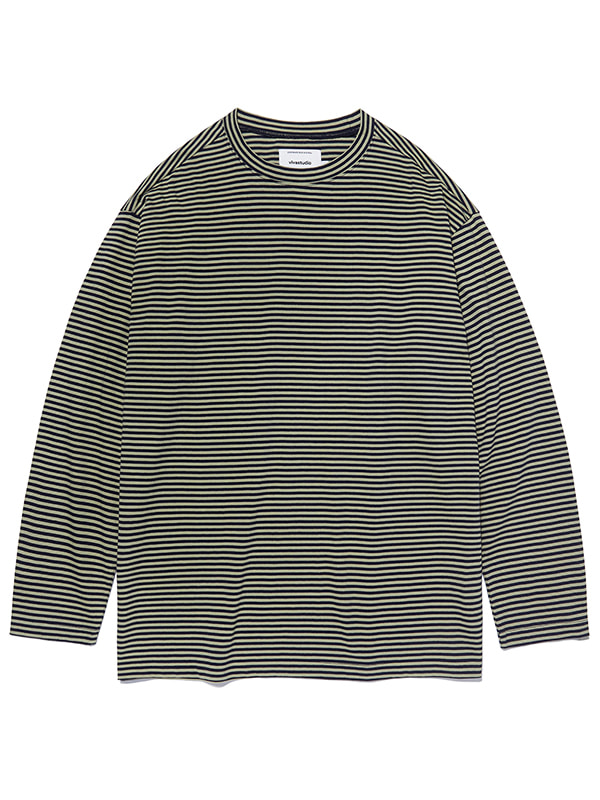 STRIPE L/S TEE KS [NAVY]