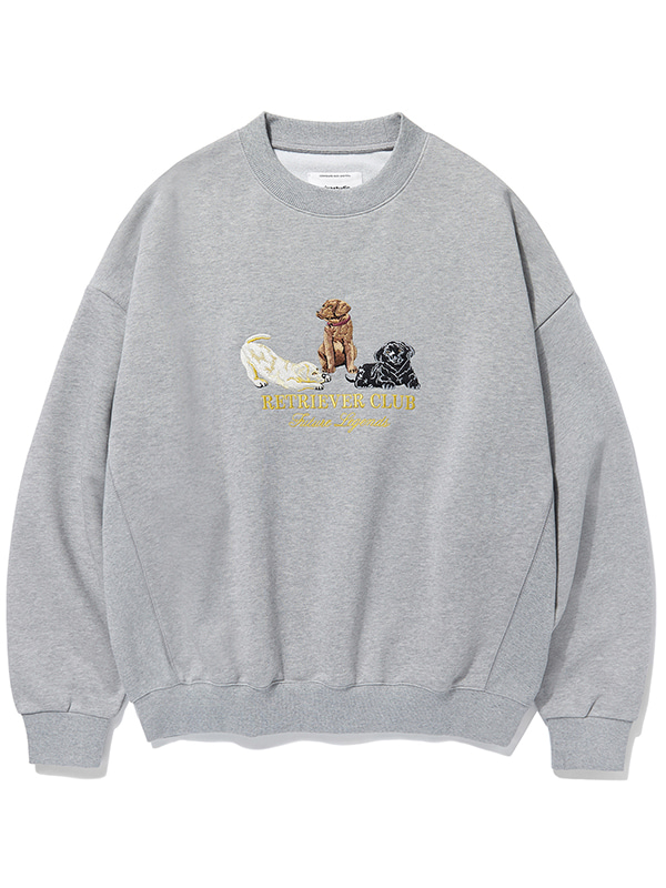 RETRIEVER EMBROIDERED CREWNECK KS [MELANGE GREY]