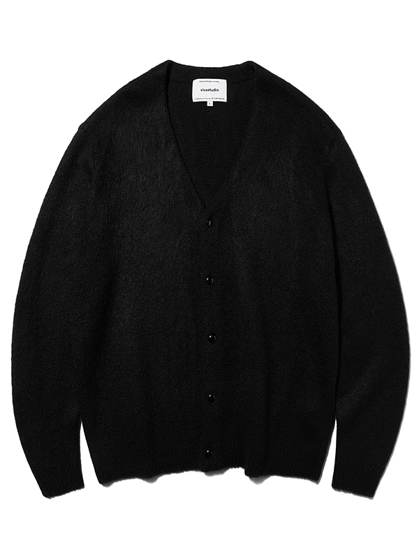 MOHAIR CARDIGAN KS [JET BLACK]