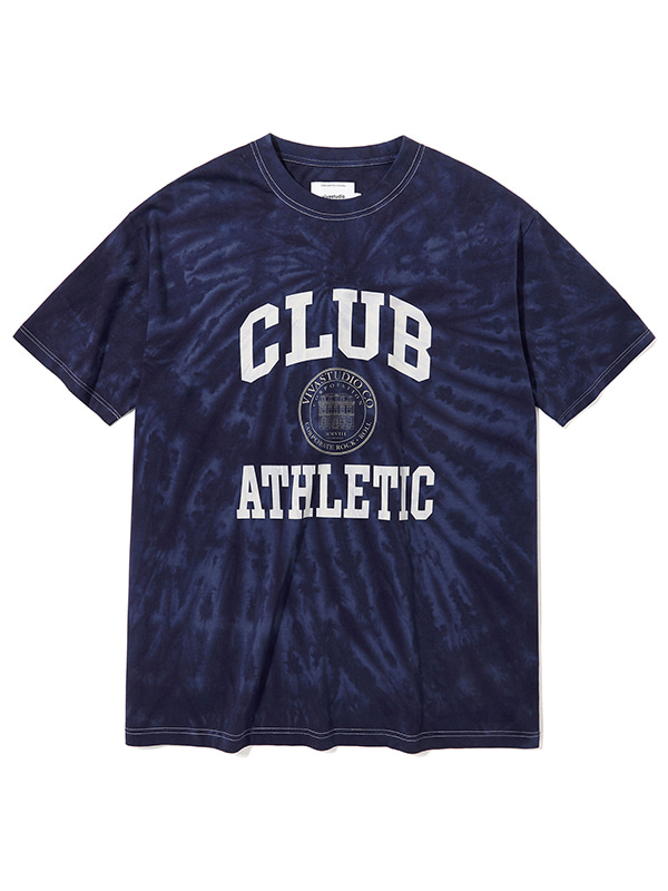 COLLEGE LOGO SHORT SLEEVE KS [BLUE GREY]