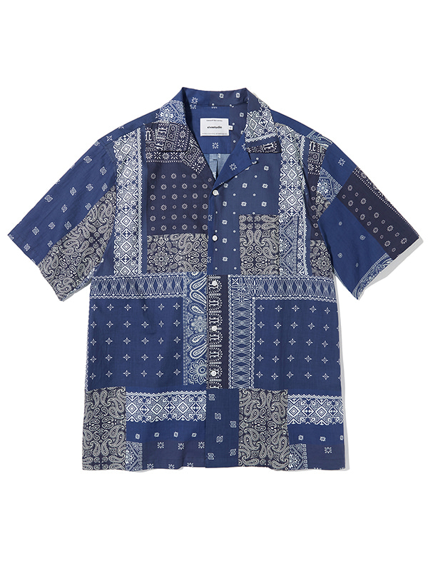 TWO TONE BANDANA SHIRTS KS [BLUE]