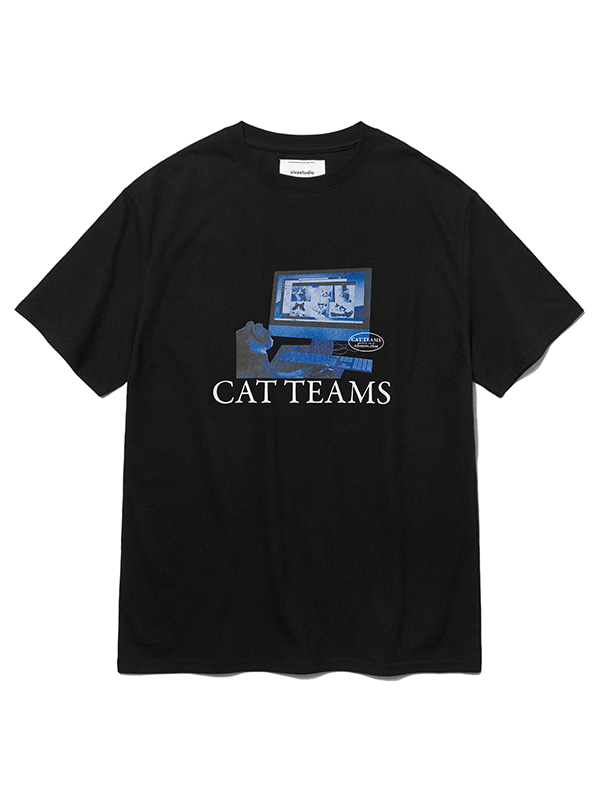 SOCIAL CAT TEAMS SHORT SLEEVE KS [BLACK]