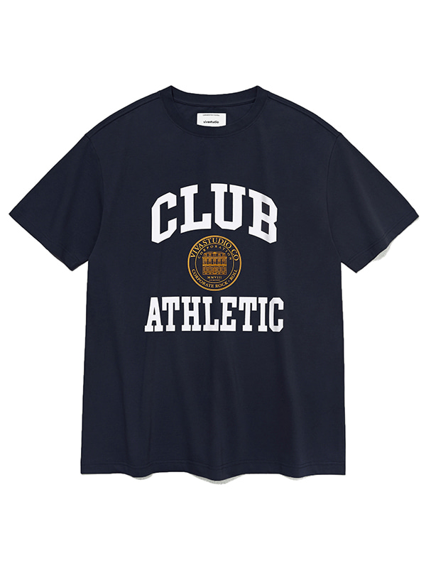 COLLEGE LOGO SHORT SLEEVE KS [NAVY]