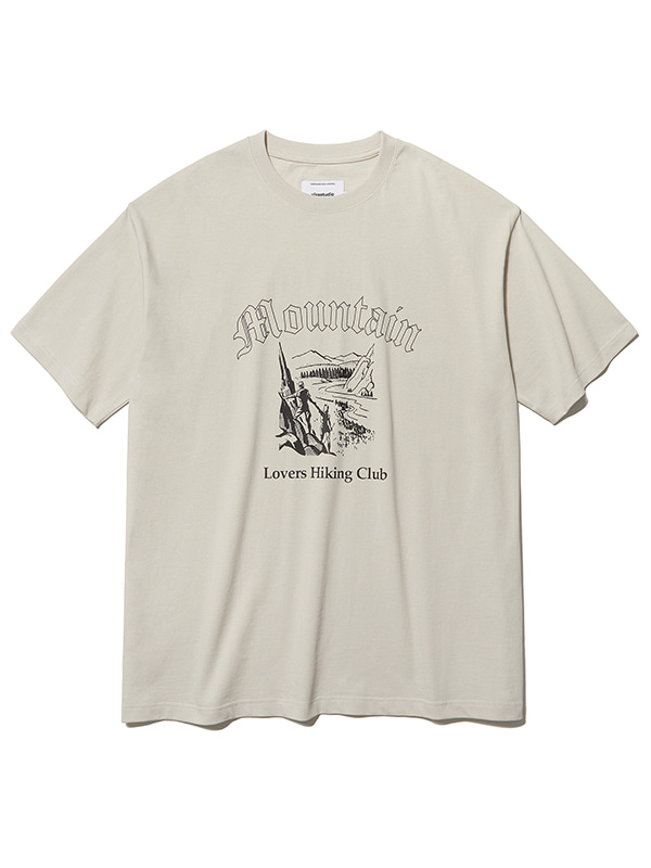 MOUNTAIN LOVE SHORT SLEEVE KS [BEIGE GREY]